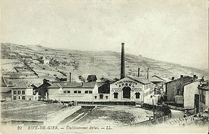 Lucien Arbel - Arbel factory in Rive-de-Gier at the start of the 20th century