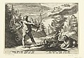 Arcas richt zijn pijl op Callisto Ovidius' Metamorfosen (serietitel), RP-P-1882-A-6371.jpg