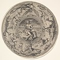 Arion on a Dolphin surrounded by a Border decorated with Sea Creatures, from a Set of Circular Designs with Sea Gods MET DP828382.jpg