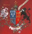 Armoiries Marguerite de Rohan-fond rouge.png
