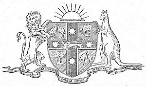 English: NSW Coat of Arms in Sydney Morning He...