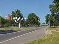 Arnhem-Kronenburg, sculptuur tussen het UWVgebouw en de Rijnpoort foto4 2015-06-30 16.46.jpg
