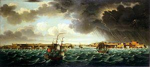 Alberto Pullicino - Image: Arrivee a Malte avec orage sur port La Valette