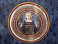 Asciano, museo di palazzo corboli, int., sala delle 4 stagioni con affreschi attr. a Cristoforo di Bindoccio e Meo di Pero, XIV sec. primavera.jpg