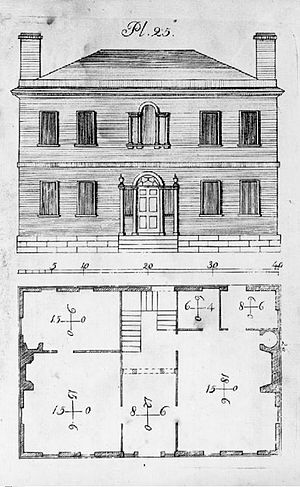 Asher Benjamin - Federal style house, from The Country Builder's Assistant, 1797
