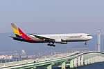 Asiana Airlines, OZ114, Boeing 767-38E, HL7248, Arrived from Seoul, Kansai Airport (16567840033).jpg