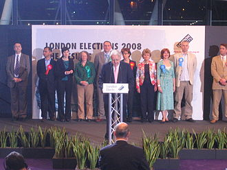 2008 London Assembly election - Winning list members behind the returning officer