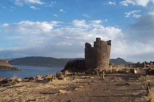 Lake Umayo - Image: Atardecer en Sillustani