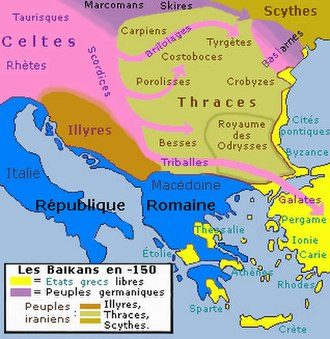 Thracians - Southeastern Europe in the second century BC.