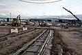 Atlantinkatu tram track construction in Jätkäsaari, Helsinki, Finland, 2020.jpg