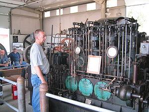Atlas-Imperial - An Atlas-Imperial diesel tugboat engine in Brooks, Oregon