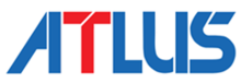 Stylized blue-and-red letters