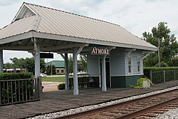 Former Atmore Amtrak station