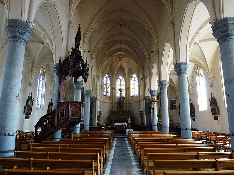 Auchy-lez-Orchies (Nord, Fr) église, intérieur