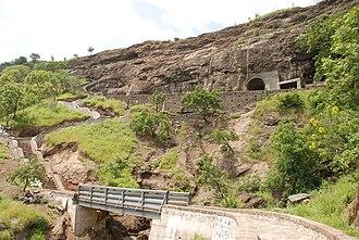 Aurangabad Caves - Aurangabad Caves, from a distance