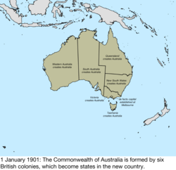 Map Of Australia 1901.Territorial Evolution Of Australia Wikipedia