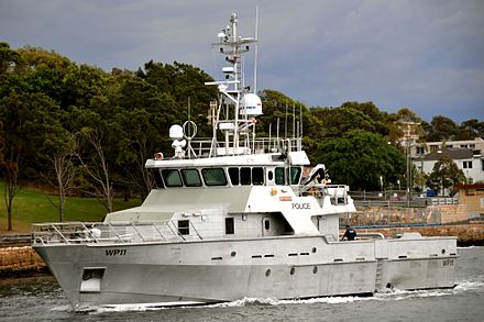 OPV Nemesis, the largest purpose-built police boat in the Southern Hemisphere Australian Police vessel Nemesis.jpg