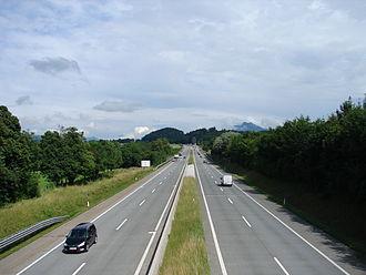 West Autobahn - A1 near Eugendorf, 2009