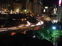 Francisco Fajardo Highway at night