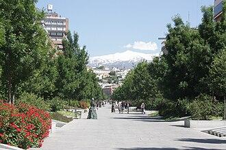 Sierra Nevada (Spain) - Image: Avenida de la Constitución (Granada)