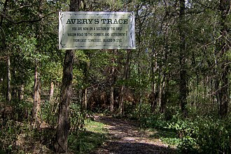 Bledsoe's Station - Sign marking what was once a section of Avery's Trace