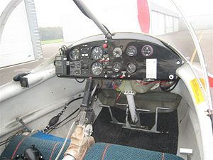 Aviasud Mistral - Cockpit of the Aviasud Mistral