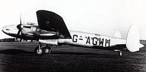 1947 BSAA Avro Lancastrian Star Dust accident - BSAA Lancastrian 3 G-AGWH painted as Stardust