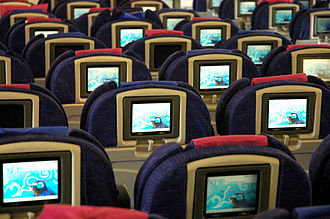 Aircraft cabin - The British Airways World Traveller Cabin