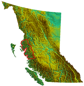 Kitimat Ranges as defined in S. Holland Landforms of British Columbia