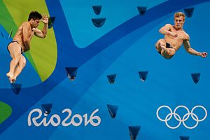 Jack Laugher - Chris Mears and Jack Laugher at the 2016 Olympics in Rio
