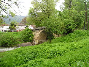 Azot (region) - The old stone bridge over the Babuna river next to the village of Bogomila.