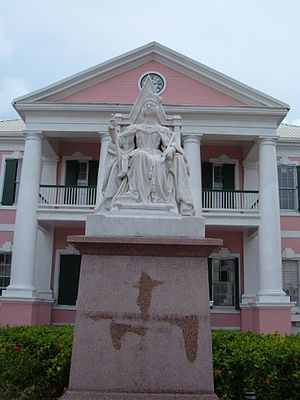 Parliament of the Bahamas - The statue of Queen Victoria, located in Parliament Square, was erected in her honour after her death in 1901