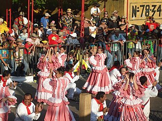 Barranquilla's Carnival - Folkloric groups dancing at the carnival