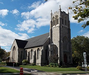 National Register of Historic Places listings in Erie County, New York - Image: Baker Memorial Methodist Episcopal Church East Aurora NY Sep 12