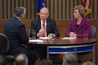 Tammy Baldwin - Baldwin and Thompson debating during the 2012 election