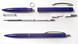 Parts of a retractable ballpoint pen