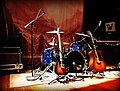Band set-up onstage Lincoln Hall Chicago IL October 2012.jpg