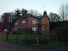A view of the Bank Hall farm house