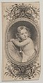 Banknote motif- a child's portrait and two patterned ovals surrounded by a floral frame MET DP837944.jpg