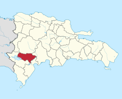 Location of the Baoruco Province