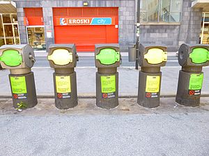 Pneumatic refuse conveying system - Pneumatic waste collectors in Barakaldo, Biscay, Basque Country, Spain