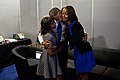 Barack, Malia, and Sasha Obama at the 2012 Democratic Convention.jpg