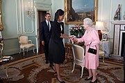 Barack Obama Michelle Obama Queen Elizabeth II Buckingham Palace London