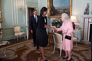 Obamas and the Queen