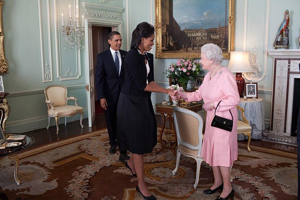 Barack Obama Michelle Obama Queen Elizabeth II Buckingham Palace London