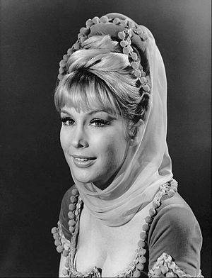 "Barbara Eden - Eden as Jeannie in a variation of the famous ""Jeannie costume"" seen only in the pilot episode"