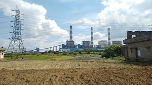 Barh Super Thermal Power Station - As seen from NH 30