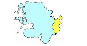 Barony of Costello - Barony of Costello highlighted in yellow.