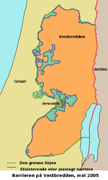 kart over vestbredden Israel si sperring på Vestbreidda – Wikipedia kart over vestbredden