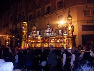 Fiestas del Pilar - Recreation of the Basilica del Pilar